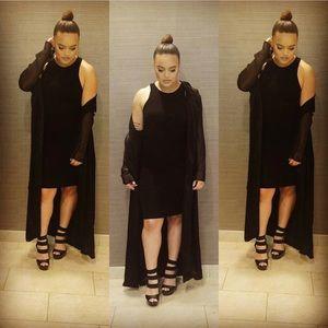 Black fashion duster